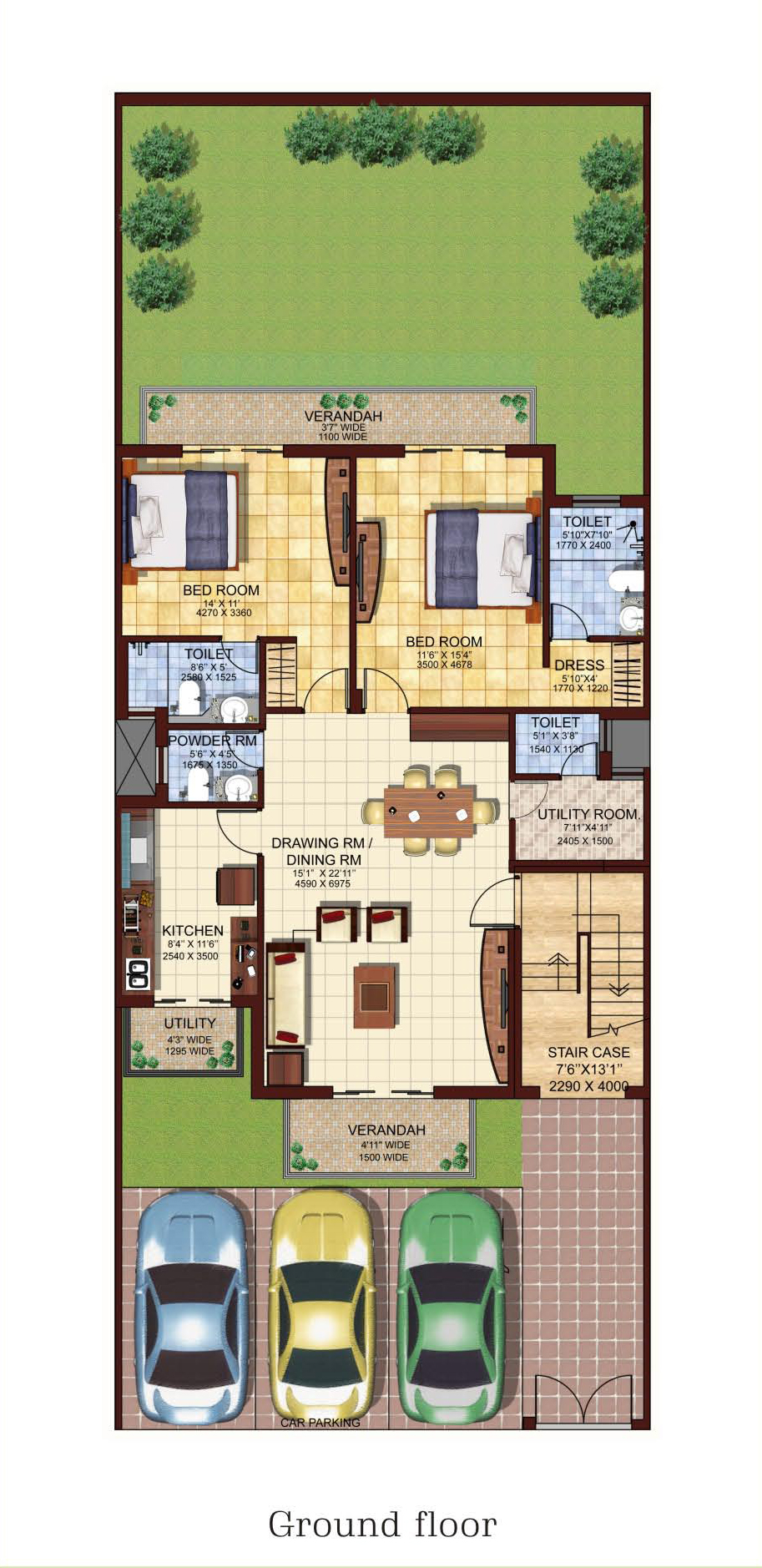 Dlf valley panchkula 2bhk ground floor oakwood buy sell for 2 bhk house designs in india